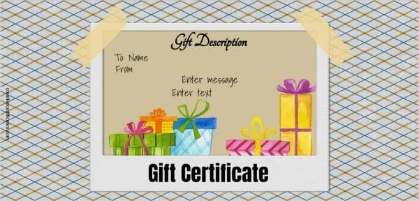 Free Gift Certificate Template 50 Designs Customize Online And Print