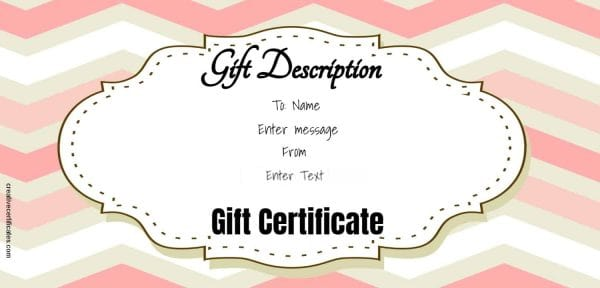 gift voucher with editable text