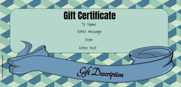 gift card with editable text