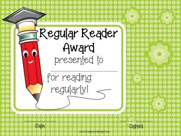 Regular reader award