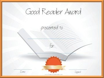 Good Reader Award for Students
