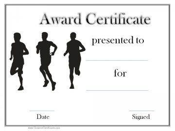 Black and white sports award