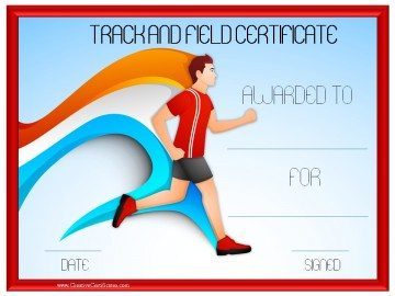 Track and field certificate