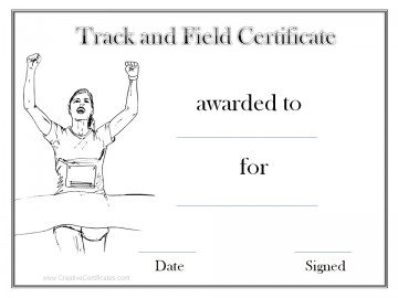 Black and white track and field award