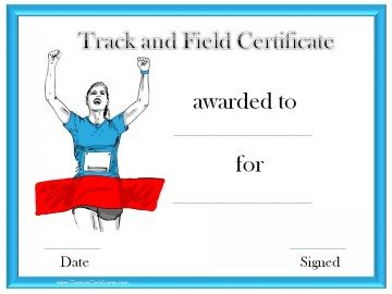Track and field award
