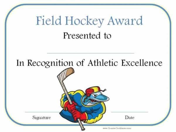 Field hockey award