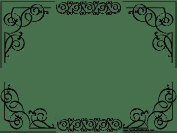elgegant border for certificate template