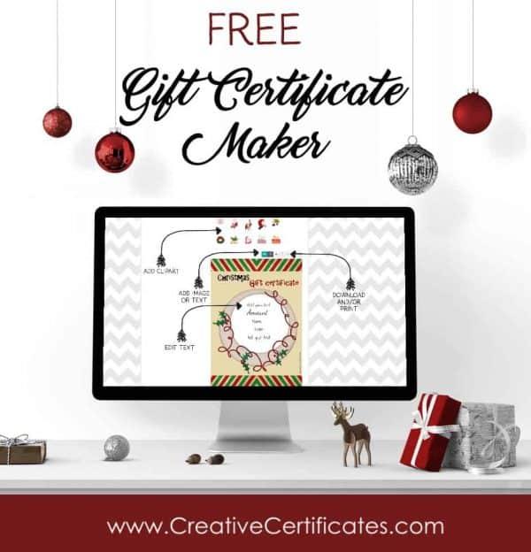 Christmas gift certificate maker
