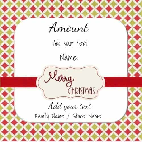 Xmas gift card that can be customized