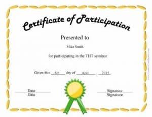 fun certificate for kids