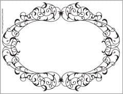 Ornate border with an oval shape