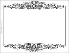 Vintage border in black and white