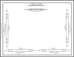 simple yet ornate minimilistic page border