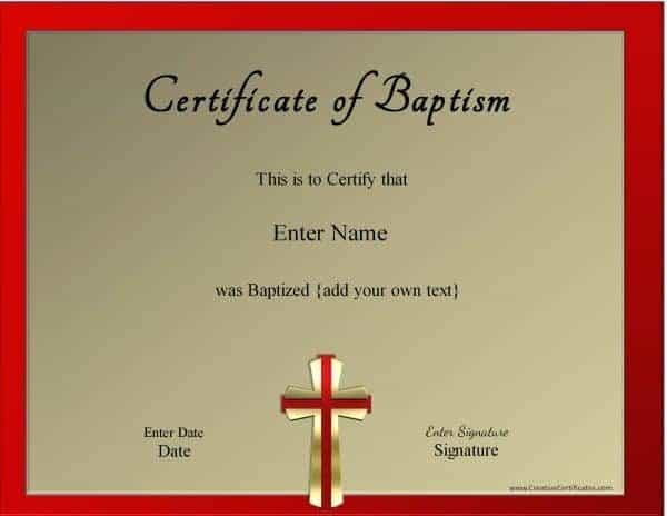 Baptism Printable