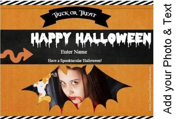 Personalized Halloween cards