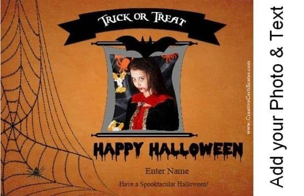 custom Halloween cards with your photo