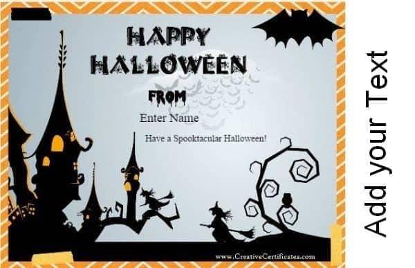 custom Halloween card