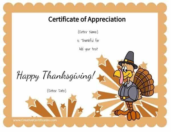 Thanksgiving printable with a cute turkey