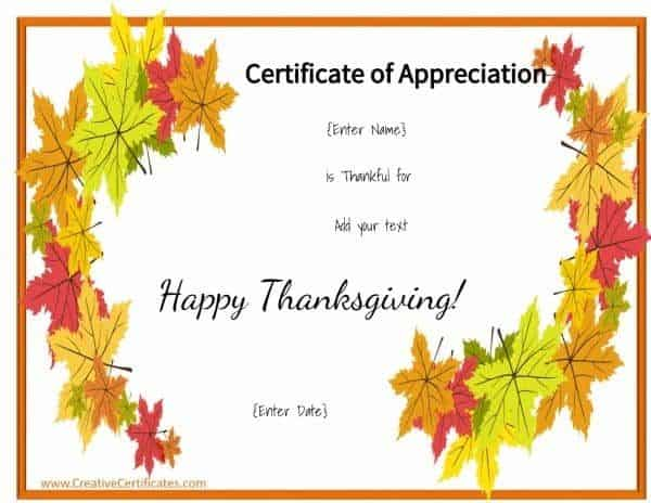 Thanksgiving border with text that can be customized