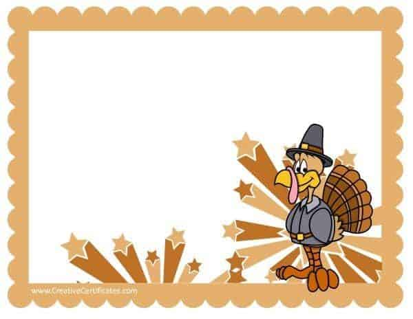 Thanksgiving border clipart free