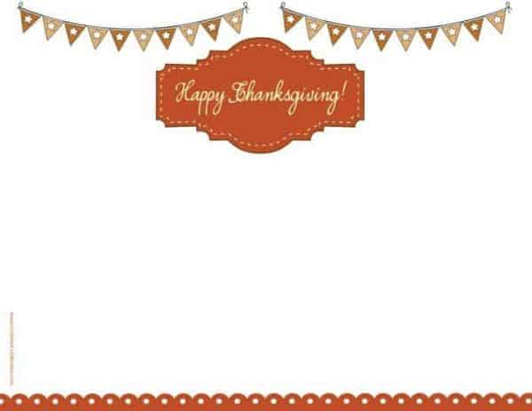 Happy Thanksgiving clipart on printable border