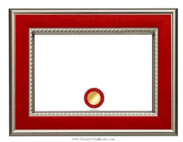 blank certificate paper