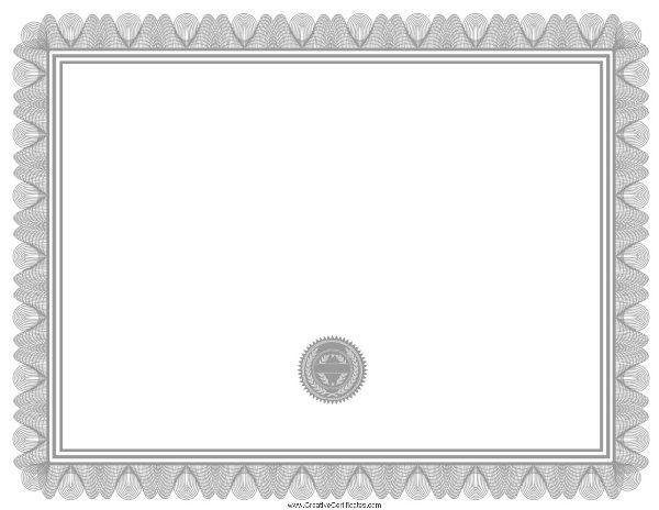 silver blank award