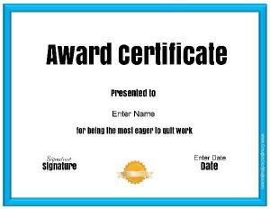 funny office award