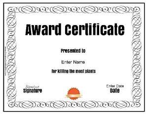 funny employee award