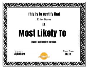 Funny most likely to awards