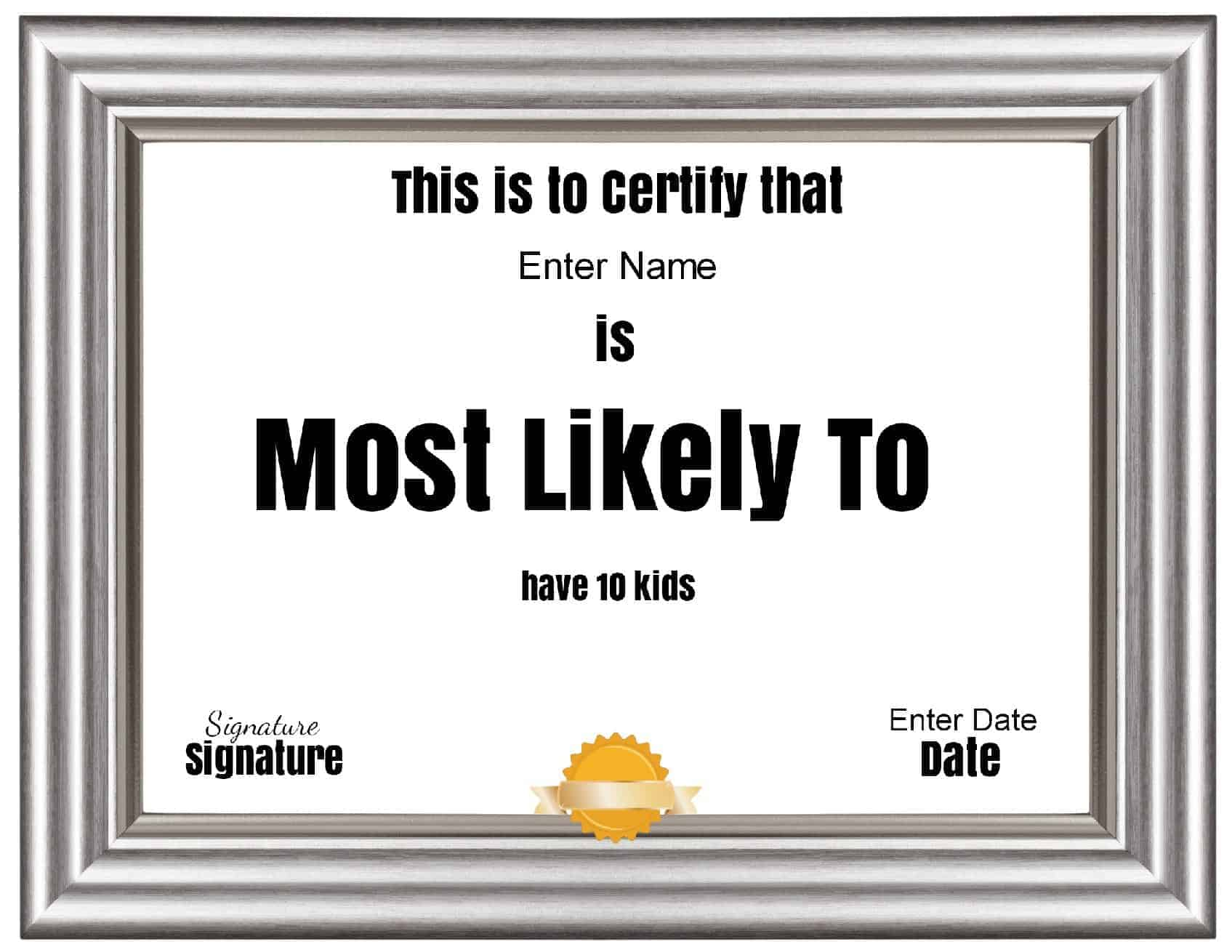 Most likely to awards for students