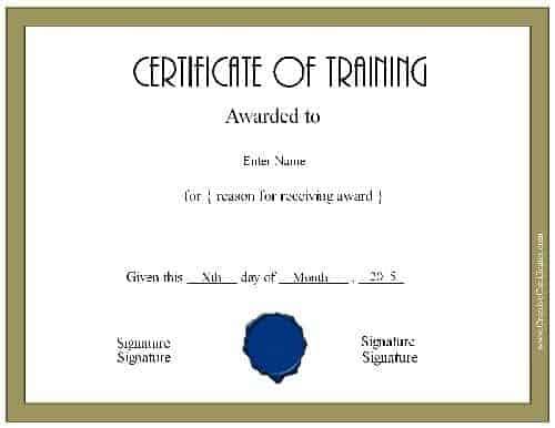 Training diploma