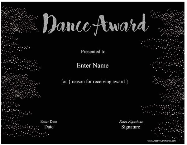 Black and silver award (text can be customized)