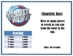 chopstick race