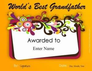 Greeting card for grandpa