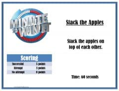 Stack the apples