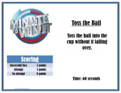 Toss the balls game