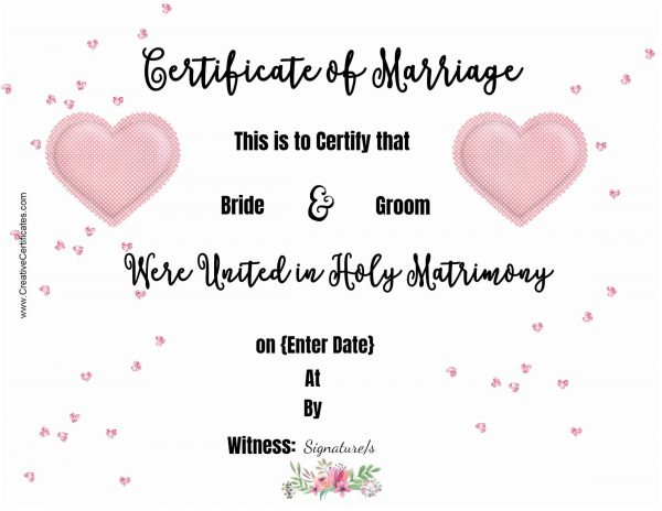 marriage printable