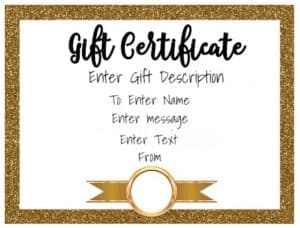 White background with gold border and a gold ribbon
