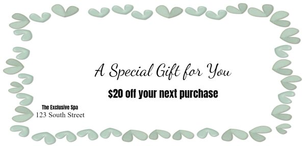 Spa coupon template
