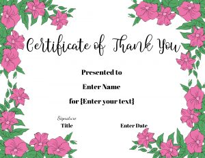 Certificate of appreciation for teachers
