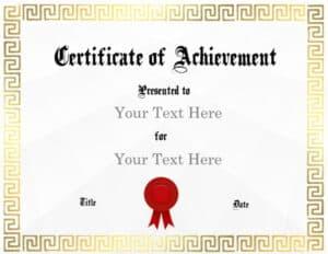 Editable certificate