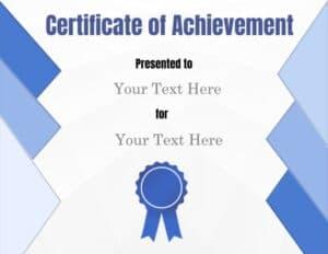 Fill in certificate