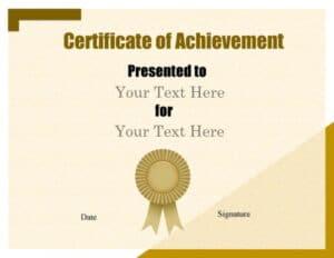 Free achievement certificates