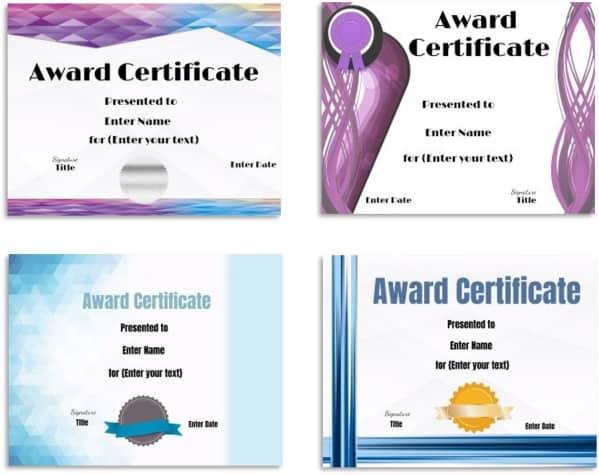 award templates