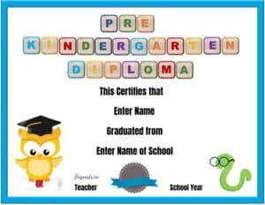 Prekindergarten diploma