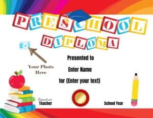 Preschool Graduation Diploma
