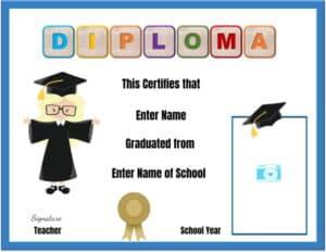 Diploma for kids