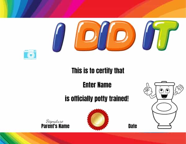 Potty training awards