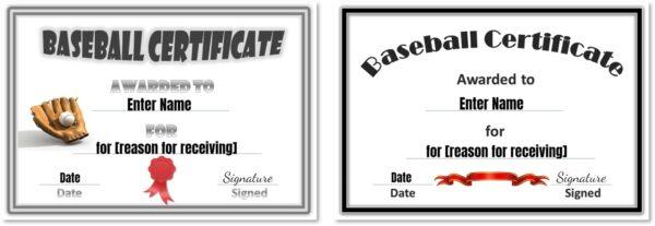 Baseball templates